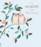 Husband Owls Wedding Anniversary Card